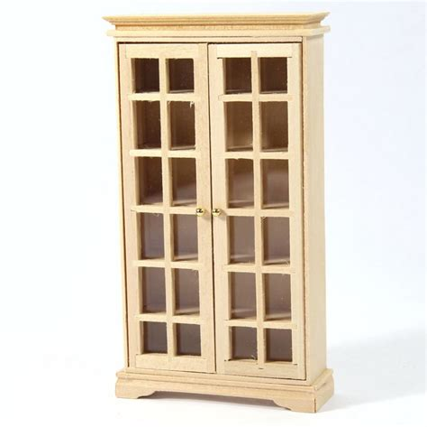 cabinet giant image display book cabinet 1 12 scale plain wood bef126