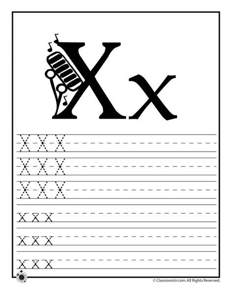alphabet worksheets letter x learn letter x woo jr kids activities