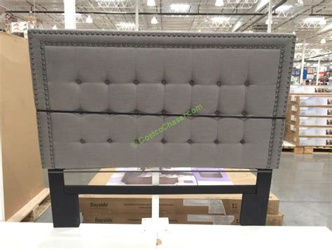 costco bed frames headboards bayside furnishings upholstered headboard 2 styles