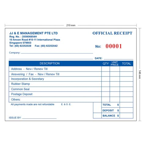 Receipt Template Singapore by Invoice Receipt Book Invoice Template Ideas