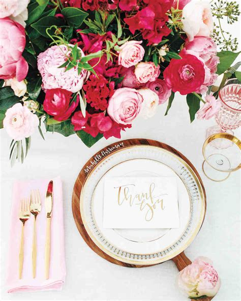 Flower Settings For Weddings by 18 Creative Ways To Set Your Reception Tables Martha