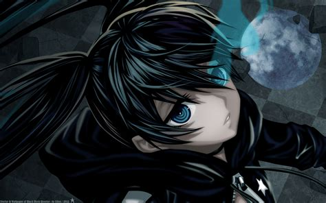 anime girl rock wallpaper black rock shooter wallpaper hd wallpaper animation