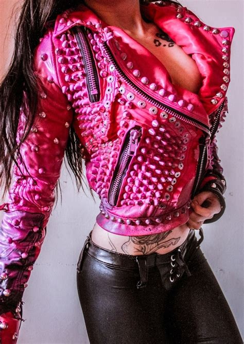 pink motorcycle jacket image of toxic vision motorhead pink motorcycle jacket