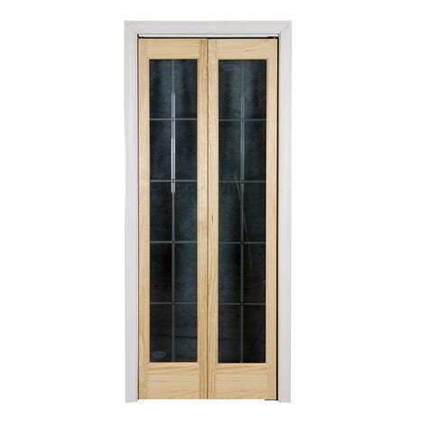 Wood Bifold Doors Interior Pinecroft 32 In X 80 In Optique Wood Universal Reversible Interior Bi Fold Door 873528 The