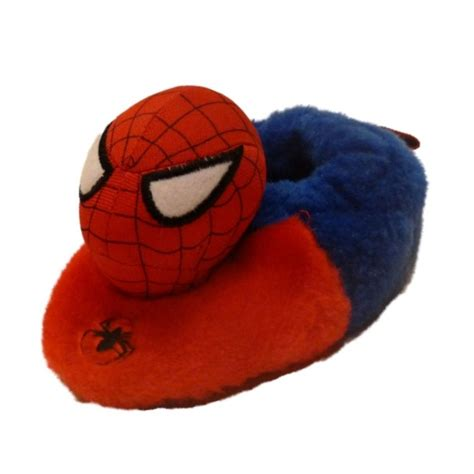 spider slippers marvel comics infant boys slippers house shoes
