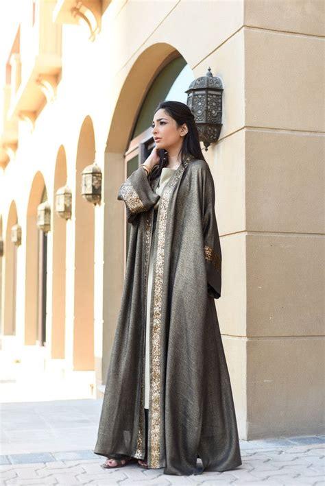 gamis abaya dubai 085 grey green linen shimmer robe blue abaya
