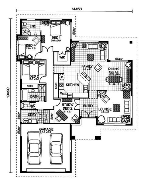australian home plans floor plans the hinchinbrook 171 australian house plans