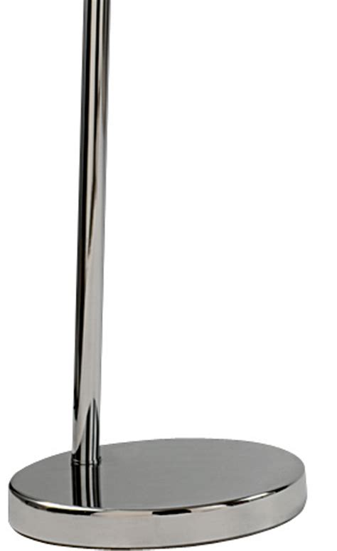 Black And Silver Floor L Arc Floor L In Chrome With Silver Lined Black Shade 1013cc