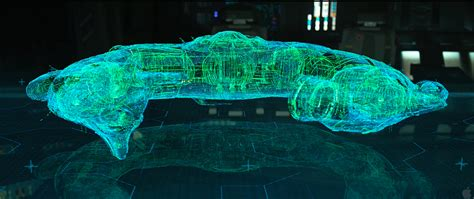 Starship Floor Plan by Prometheus Movie Holograms By The Alien Spaceship Computer