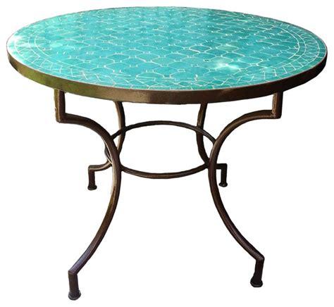 moroccan mosaic table 36 quot mediterranean outdoor