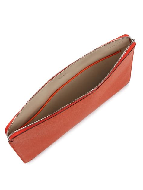 A4 Document Pouch lyst valextra grained leather a4 document pouch in