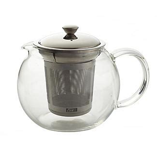 glass teapot with lakeland glass teapot with infuser 600ml lakeland