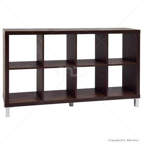 box  shelving unit walnut bookshelf storage