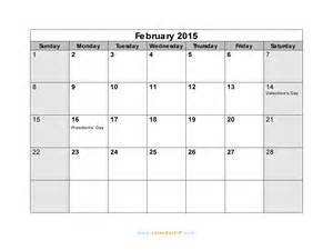 2015 Calendar Template February by January February 2015 Calendar Www Imgkid The