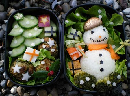 christmas creation food 17 amazing bento food creations