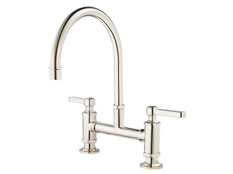 Polished Nickel Bridge Kitchen Faucet by Pfister Port Bridge Kitchen Faucet Polished Nickel