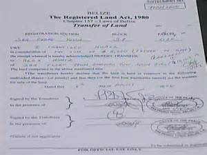 Property Essay by 2 Title Papers For San Pedro Land Attorney Registers Mischief In Paperwork Channel5belize