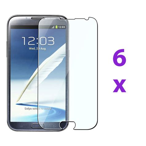6 clear screen protector skin cover guard for samsung