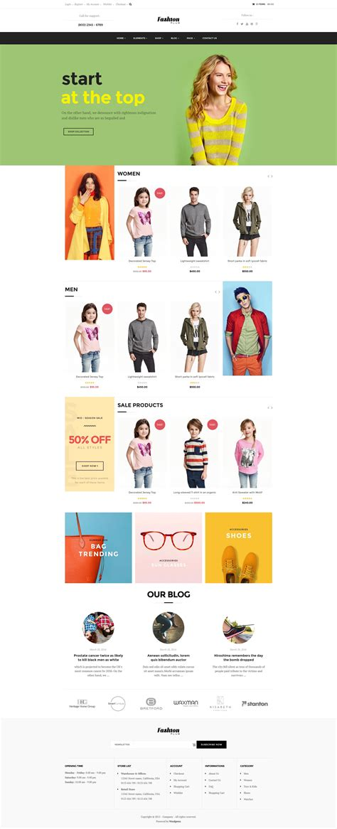 woocommerce themes clothing woocommerce fashion wordpress theme fashion plus by opal