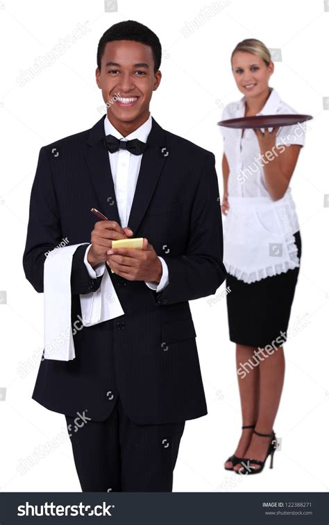 waiter and waitress stock photo 122388271