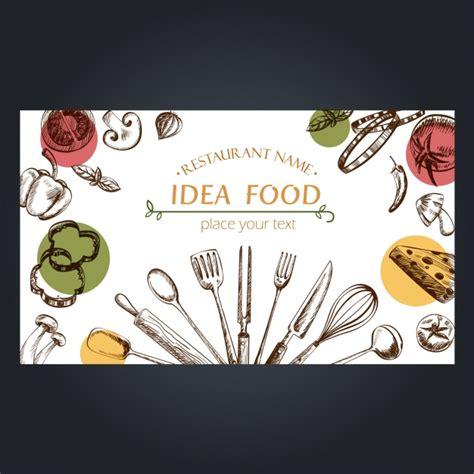 Kitchen Design Sketch food elements background design vector free download