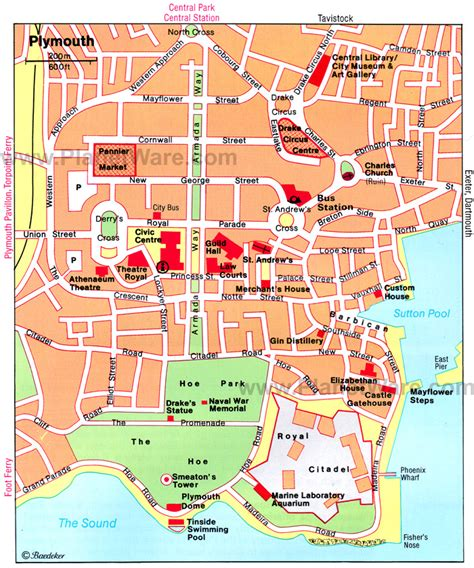 map of plymouth 10 top tourist attractions in plymouth planetware