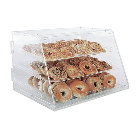 set of 4 pastry display trays countertop acrylic bakery