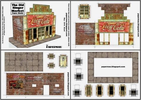 Papercraft Shop - papermau the ringer market paper model by papermau