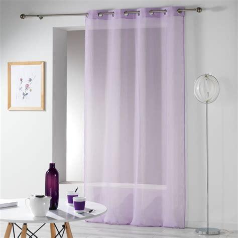 Rideaux Violet by Rideau Voilage Quot Telma Quot 140x280cm Violet