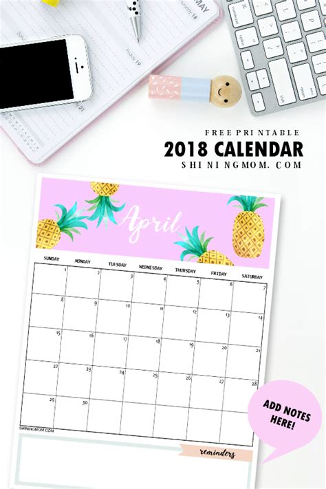 2018 monthly printable calendar let s do this true calendar 2018 printable 12 free monthly designs to love