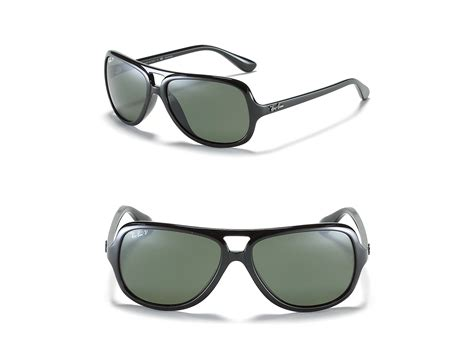 ray ban top bar polarized ray ban highstreet top bar polarized sunglasses in black