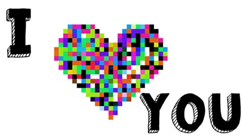 Say I Love You With A Pixel Heart Free I Love You Ecards Pictures Of Hearts That Say I You To Color