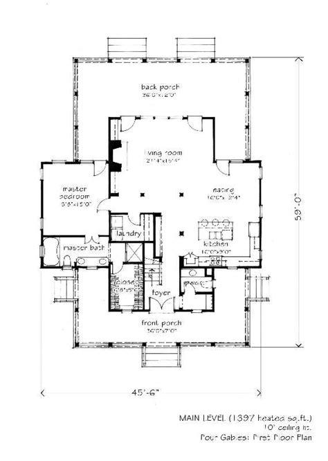 2 341 Sq Ft Four Gables L Mitchell Ginn Associates Southern Living House Plans 2500 Sq Ft