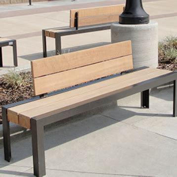 ipe wood bench streetscapes
