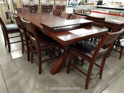 costco counter height dining table hillsdale furniture 9 counter height dining set