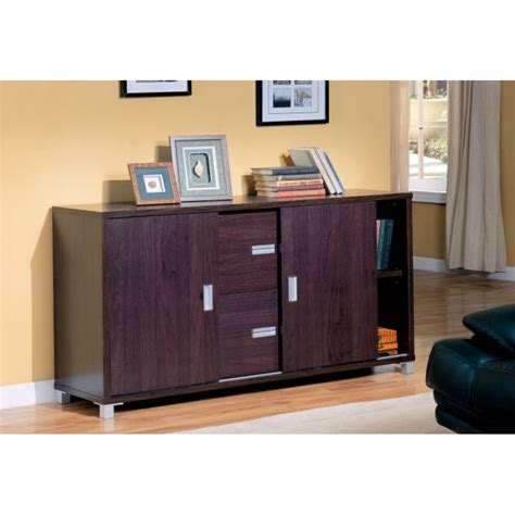 credenza with doors decarie contemporary storage credenza with sliding doors