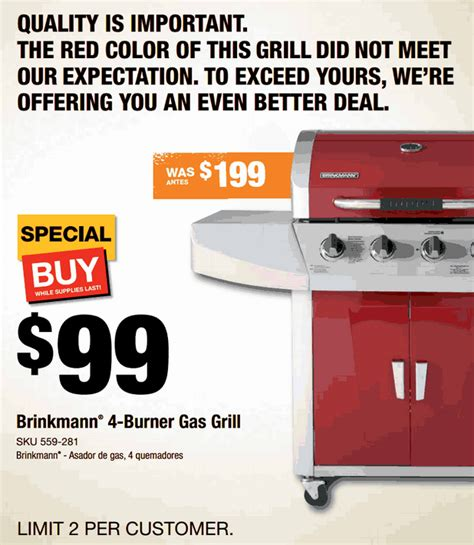 coupons and freebies brinkmann 4 burner gas grill 94