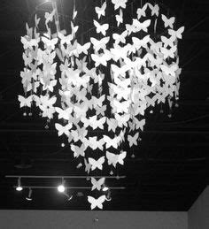 How To Make A Paper Butterfly Chandelier - 1000 images about bedroom makeover on paper