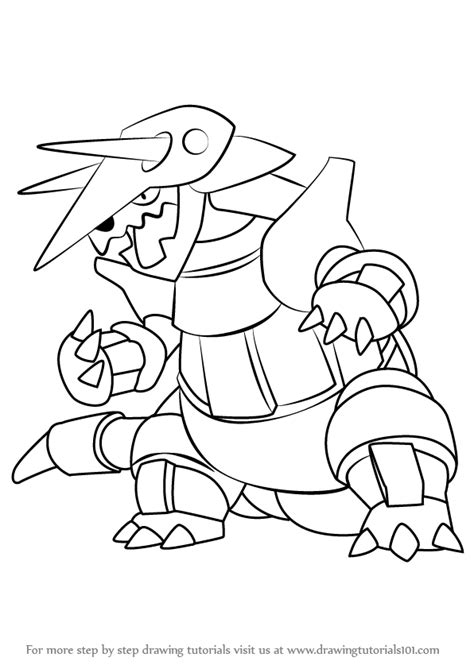 pokemon coloring pages aggron learn how to draw aggron from pokemon pokemon step by