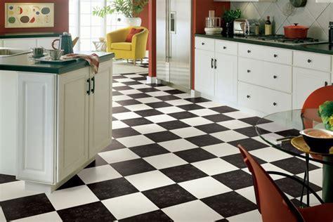 Black & White Vinyl Flooring
