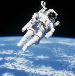Define Curtain Astronaut Floating In Space Photograph By Stocktrek Images