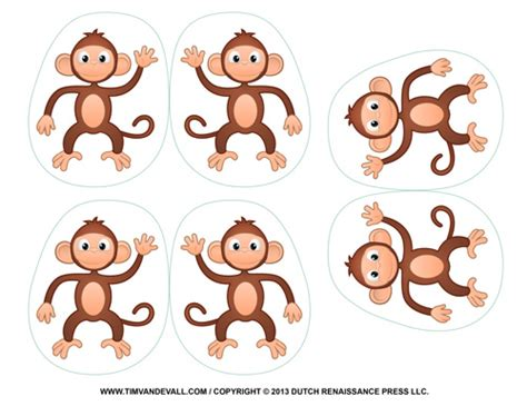 Monkey Decorations by Printable Monkey Clipart Coloring Pages Crafts