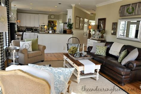 coffee spill on leather sofa savvy southern style my favorite room the endearing home