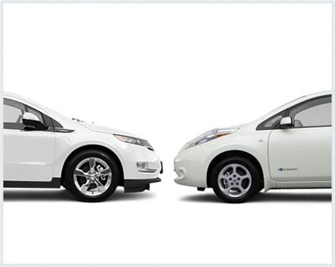nissan leaf vs chevy volt chevy volt vs nissan leaf compare cars