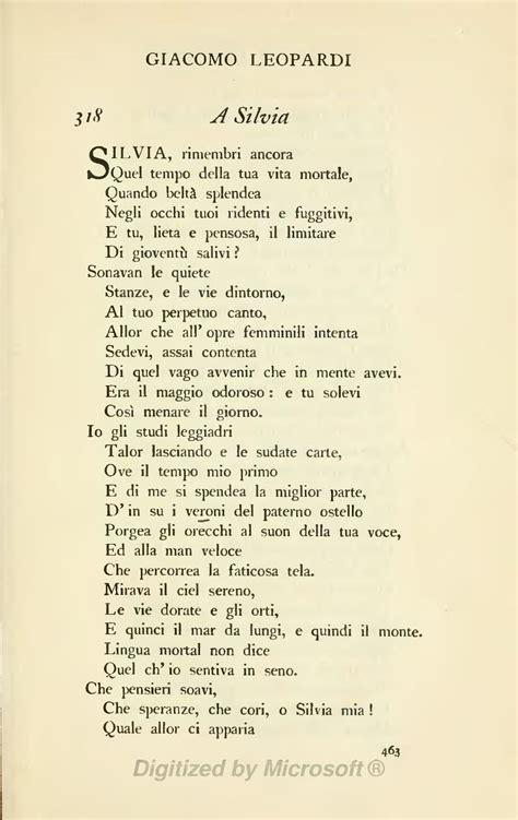 a giacomo leopardi testo pagina the oxford book of italian verse djvu 463 wikisource