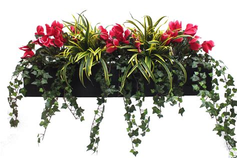 artificial window boxes artificial cyclamen and dracaena window box at evergreen