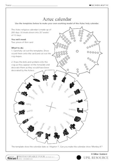 how to make an aztec calendar aztec calendar primary ks2 teaching resource scholastic