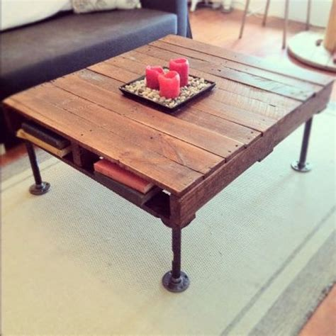 industrial wood coffee table style