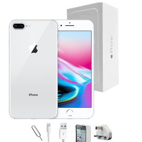 reconditioned apple iphone 7 plus 64gb silver unlocked grade a bundle