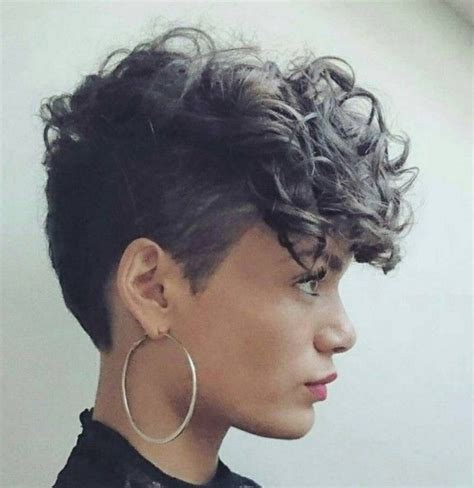 curly top short sidehair styles short curly hairstyles with shaved side modern hairstyle